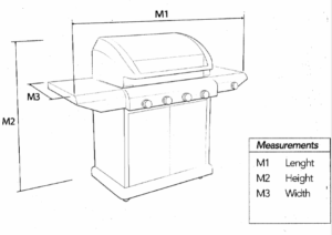 Hooded BBQ Measurements